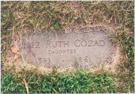 COZAD, INEZ RUTH - Pottawattamie County, Iowa | INEZ RUTH COZAD