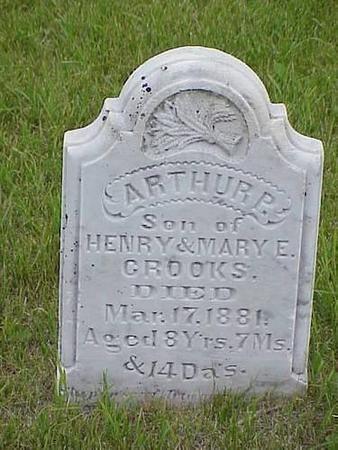 CROOKS, ARTHUR P. - Pottawattamie County, Iowa   ARTHUR P. CROOKS