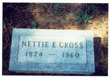 CROSS, NETTIE E. - Pottawattamie County, Iowa | NETTIE E. CROSS
