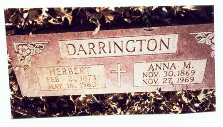DARRINGTON, ANNA MINNIE - Pottawattamie County, Iowa | ANNA MINNIE DARRINGTON