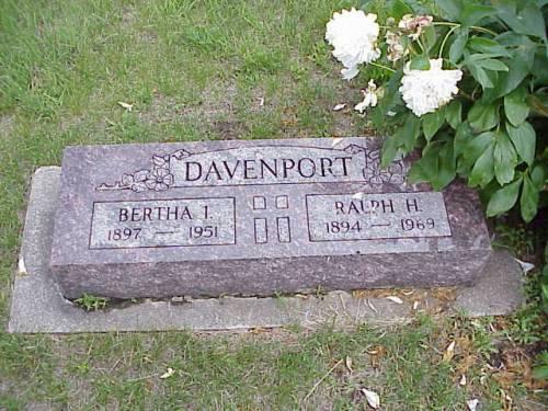 DAVENPORT, BERTHA I. & RALPH H. - Pottawattamie County, Iowa | BERTHA I. & RALPH H. DAVENPORT