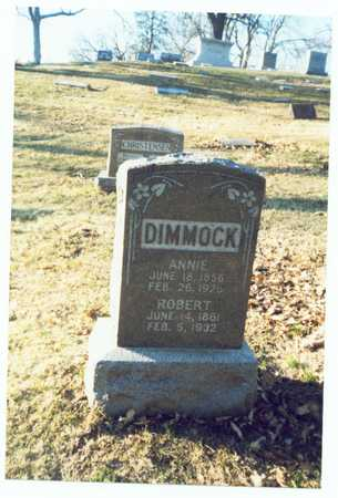 DIMMOCK, ROBERT - Pottawattamie County, Iowa | ROBERT DIMMOCK