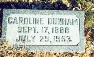 DUNHAM, CAROLINE - Pottawattamie County, Iowa | CAROLINE DUNHAM