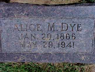 DYE, ALICE - Pottawattamie County, Iowa | ALICE DYE