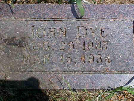 DYE, JOHN - Pottawattamie County, Iowa | JOHN DYE