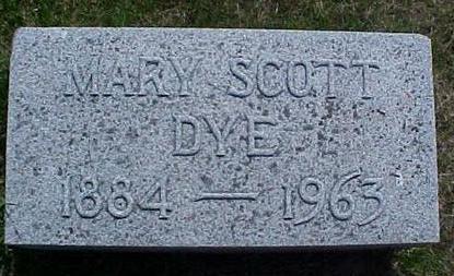 DYE, MARY - Pottawattamie County, Iowa | MARY DYE