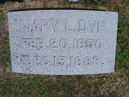 LINVILLE DYE, MARY L. - Pottawattamie County, Iowa | MARY L. LINVILLE DYE
