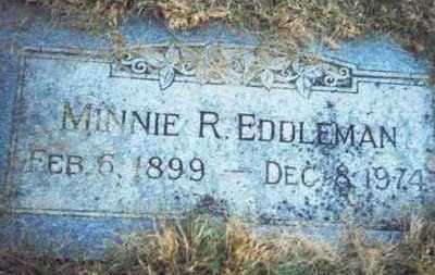 EDDLEMAN, MINNIE R. - Pottawattamie County, Iowa | MINNIE R. EDDLEMAN