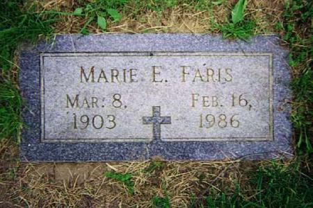 PAPINEAU FARIS, MARIE - Pottawattamie County, Iowa | MARIE PAPINEAU FARIS