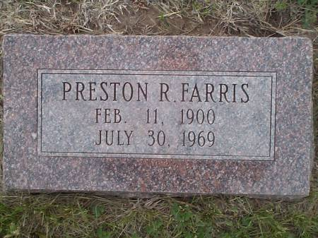 FARRIS, PRESTON R. - Pottawattamie County, Iowa | PRESTON R. FARRIS