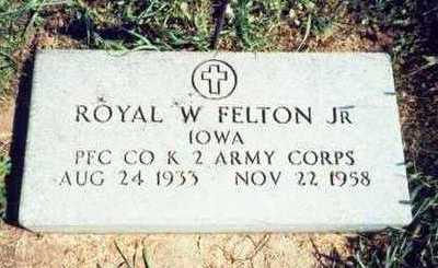 FELTON, ROYAL W. JR. - Pottawattamie County, Iowa | ROYAL W. JR. FELTON