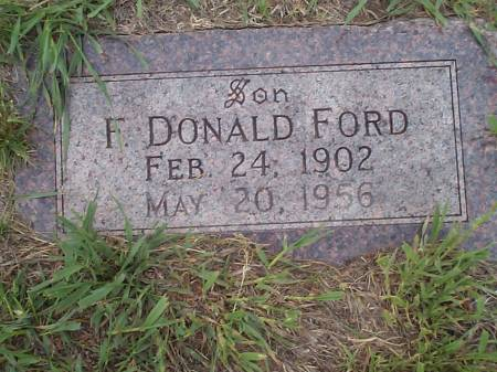 FORD, F. DONALD - Pottawattamie County, Iowa | F. DONALD FORD