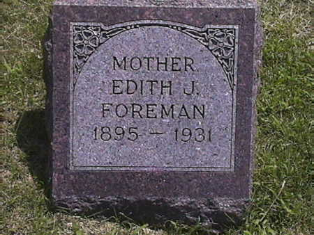 FOREMAN, EDITH . J - Pottawattamie County, Iowa | EDITH . J FOREMAN