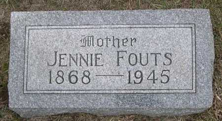 FOUTS, JENNIE - Pottawattamie County, Iowa | JENNIE FOUTS