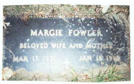 FOWLER, MARGIE - Pottawattamie County, Iowa   MARGIE FOWLER