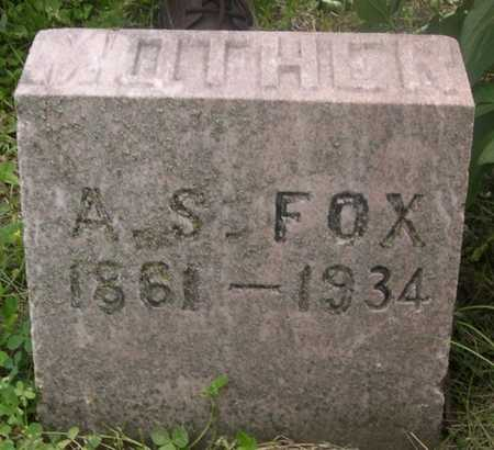 FOX, A .S. - Pottawattamie County, Iowa | A .S. FOX