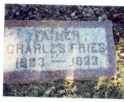 FRIES, CHARLES - Pottawattamie County, Iowa   CHARLES FRIES