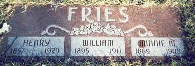 FRIES, MINNIE M. - Pottawattamie County, Iowa | MINNIE M. FRIES