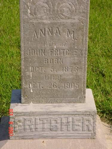 FRITCHER, ANNA M. - Pottawattamie County, Iowa | ANNA M. FRITCHER