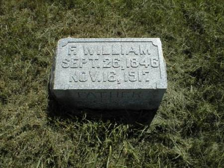FROHARDT, FRIEDRICH WILHELM (WILLIAM) - Pottawattamie County, Iowa | FRIEDRICH WILHELM (WILLIAM) FROHARDT