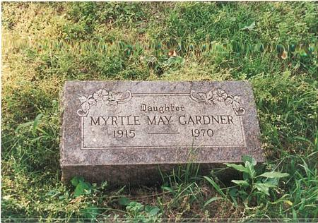 GARDNER, MYRTLE MAY - Pottawattamie County, Iowa | MYRTLE MAY GARDNER