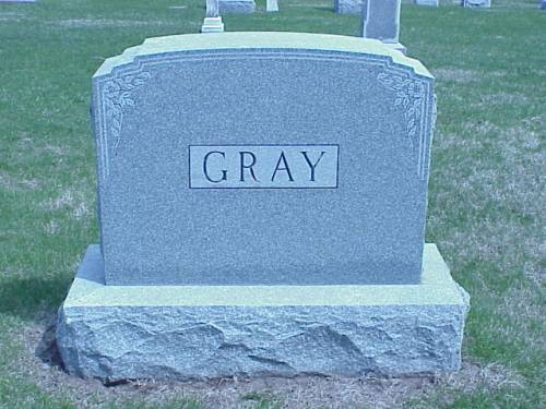 GRAY, HEADSTONE - Pottawattamie County, Iowa | HEADSTONE GRAY