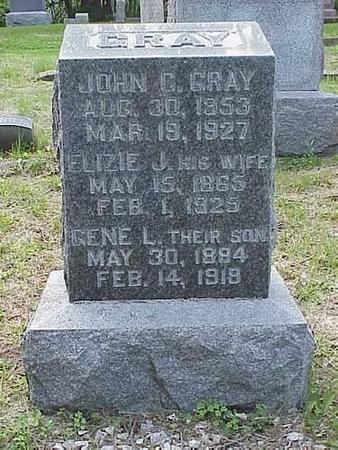 GRAY, JOHN C., ELIZIE J., & GENE L. - Pottawattamie County, Iowa | JOHN C., ELIZIE J., & GENE L. GRAY