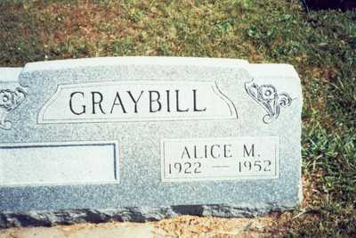 FELTON GRAYBILL, ALICE MAY - Pottawattamie County, Iowa | ALICE MAY FELTON GRAYBILL