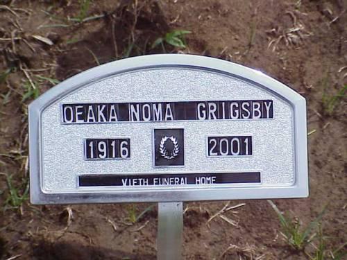 GRIGSBY, OEAKA NOMA - Pottawattamie County, Iowa | OEAKA NOMA GRIGSBY