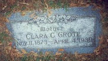 GROTE, CLARA C. - Pottawattamie County, Iowa | CLARA C. GROTE