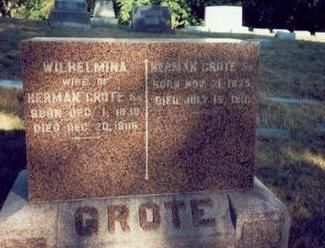 GROTE, HERMAN SR. - Pottawattamie County, Iowa | HERMAN SR. GROTE