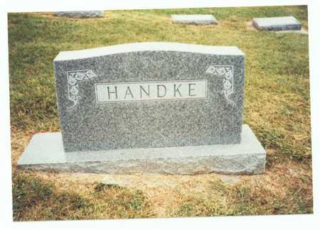 HANDKE, FAMILY MARKER - Pottawattamie County, Iowa | FAMILY MARKER HANDKE