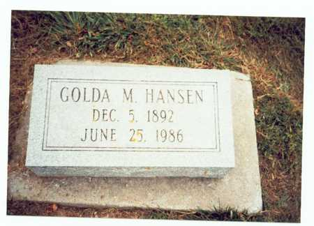 HANSEN, GOLDA M. - Pottawattamie County, Iowa | GOLDA M. HANSEN