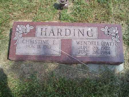 HARDING, CHRISTINE E. - Pottawattamie County, Iowa | CHRISTINE E. HARDING