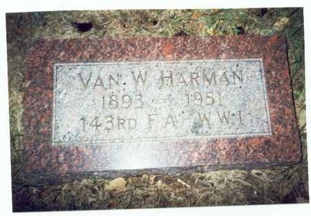 HARMAN, VAN W. - Pottawattamie County, Iowa | VAN W. HARMAN