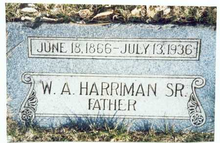 HARRIMAN, WILLIAM A. SR. - Pottawattamie County, Iowa | WILLIAM A. SR. HARRIMAN