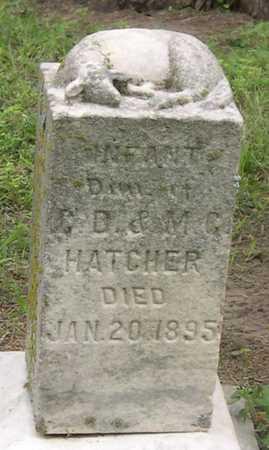 HATCHER,  INFANT - Pottawattamie County, Iowa    INFANT HATCHER