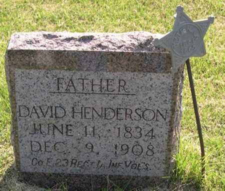 HENDERSON, DAVID - Pottawattamie County, Iowa   DAVID HENDERSON