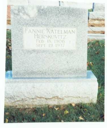 KATELMAN HERSKOVITZ, FANNIE - Pottawattamie County, Iowa | FANNIE KATELMAN HERSKOVITZ