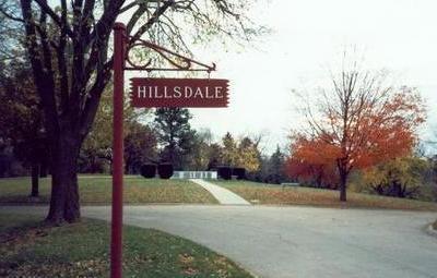 HILLSDALE, SIGN - Pottawattamie County, Iowa   SIGN HILLSDALE