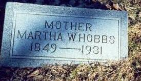 HOBBS, MARTHA W. - Pottawattamie County, Iowa | MARTHA W. HOBBS
