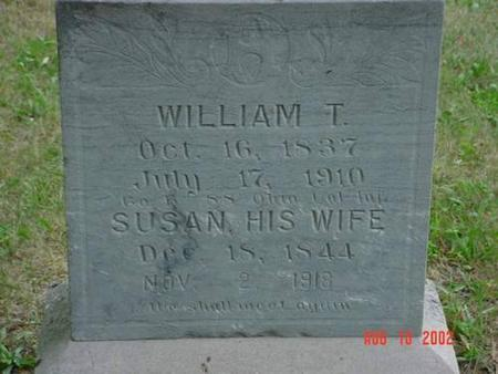 HOLMES, WILLIAM T. & SUSAN INSCRIPTION - Pottawattamie County, Iowa | WILLIAM T. & SUSAN INSCRIPTION HOLMES