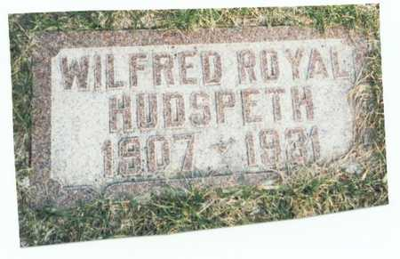 HUDSPETH, WILFRED ROYAL - Pottawattamie County, Iowa | WILFRED ROYAL HUDSPETH