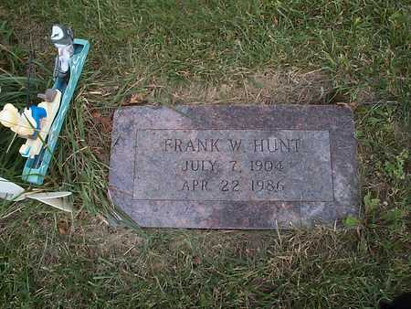 HUNT, FRANK W. - Pottawattamie County, Iowa | FRANK W. HUNT