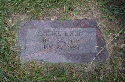 HUNT, MILDRED I. - Pottawattamie County, Iowa | MILDRED I. HUNT