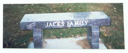 JACKS, FAMILY MARKER - Pottawattamie County, Iowa | FAMILY MARKER JACKS