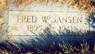 JANSEN, FRED W. - Pottawattamie County, Iowa | FRED W. JANSEN