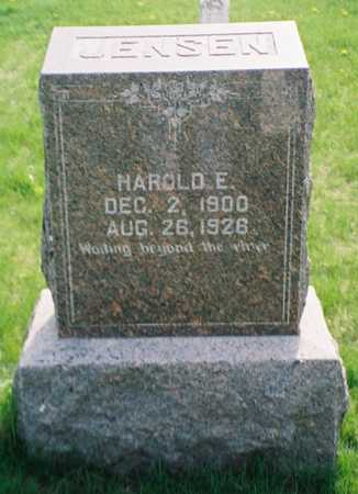JENSEN, HAROLD E. - Pottawattamie County, Iowa | HAROLD E. JENSEN