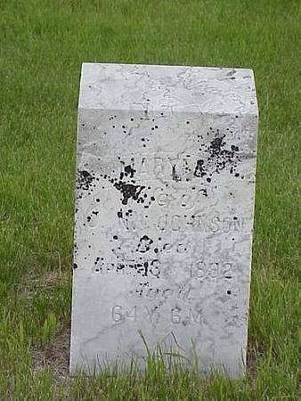 JOHNSON, MARY A. - Pottawattamie County, Iowa   MARY A. JOHNSON
