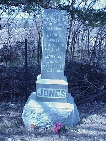 JONES, DAVID T. & MARY M. - Pottawattamie County, Iowa | DAVID T. & MARY M. JONES